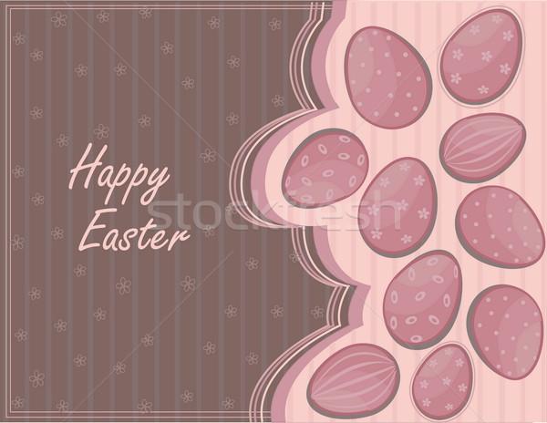 Христос воскрес яйца Пасху продовольствие счастливым яйцо Сток-фото © jelen80
