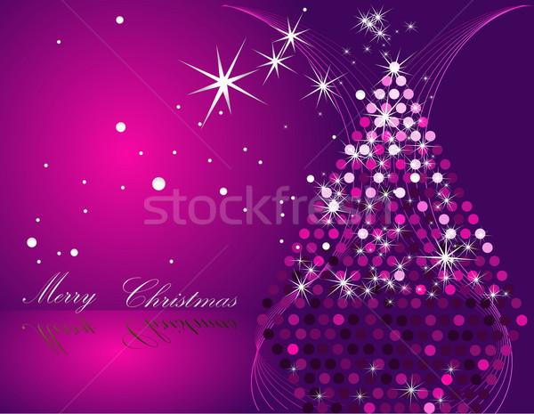 рождественская елка розовый серебро звездой золото подарок Сток-фото © jelen80