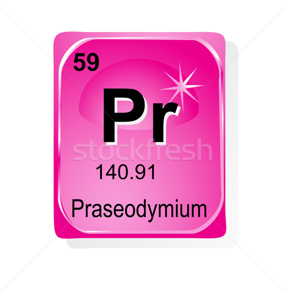 Praseodymium chemical element with atomic number, symbol and weight Stock photo © jelen80