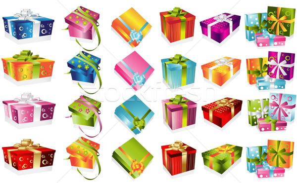 異なる 贈り物 実例 歳の誕生日 ボックス 緑 ストックフォト © jelen80