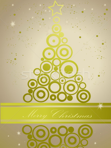 рождественская елка золото зеленый свет зима время Сток-фото © jelen80