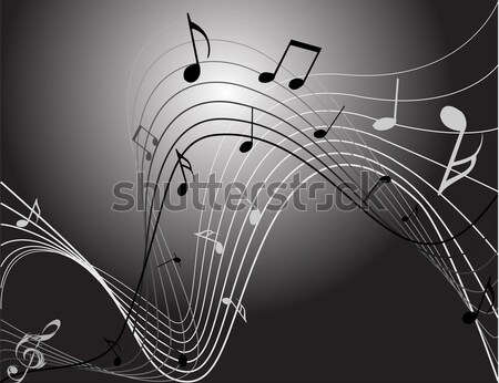 Stock photo: Background with music notes