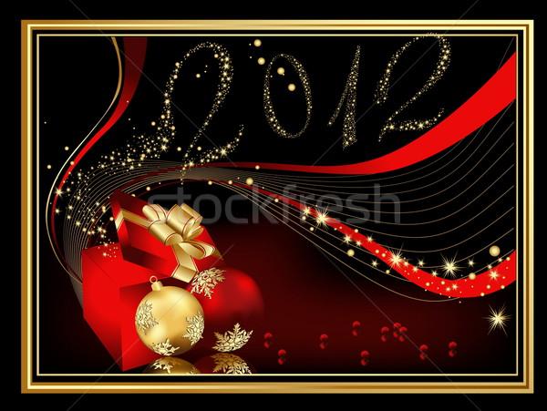 Happy New Year 2012 background Stock photo © jelen80