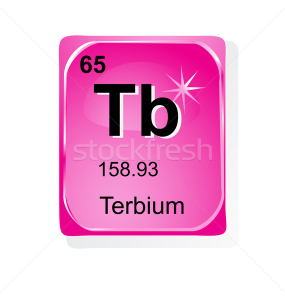 Terbium chemical element with atomic number, symbol and weight Stock photo © jelen80