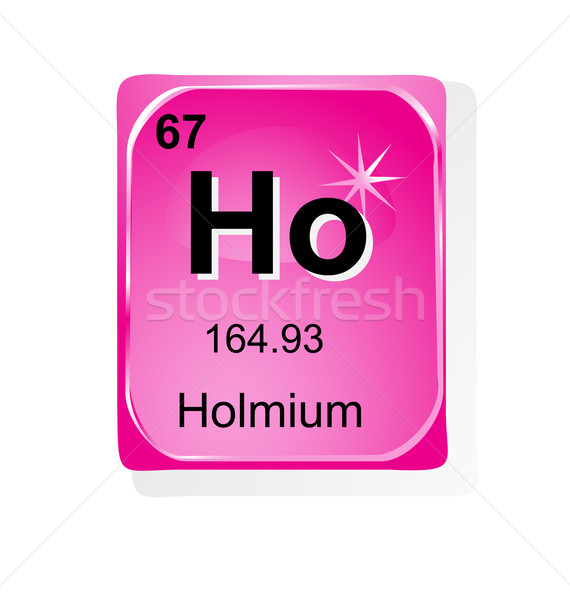 Holmium chemical element with atomic number, symbol and weight Stock photo © jelen80