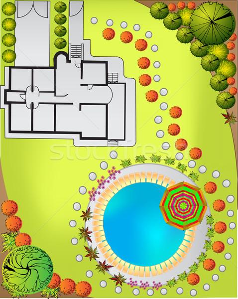 Garden plan Stock photo © jelen80