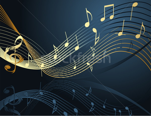 Background with music notes Stock photo © jelen80