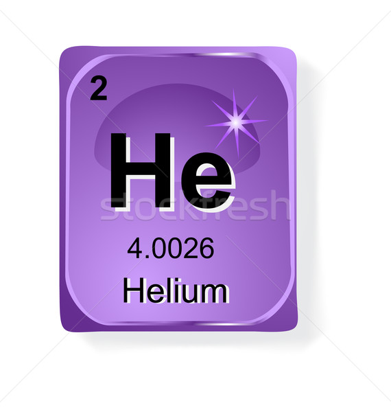 гелий химического элемент атомный числа символ Сток-фото © jelen80