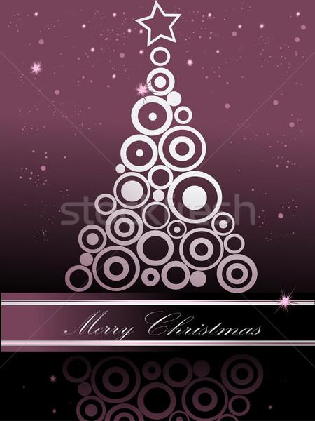 Karácsonyfa ezüst ibolya fény tél idő Stock fotó © jelen80
