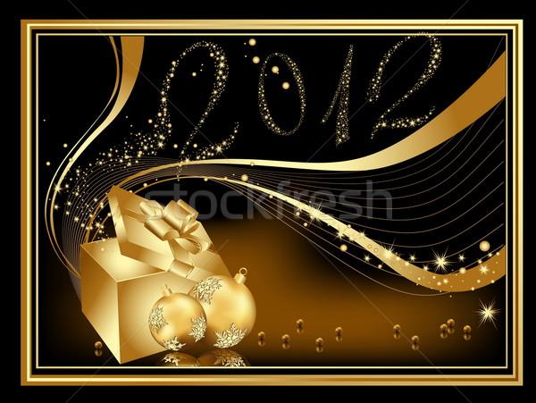 明けましておめでとうございます 2012 金 星 ギフト 行 ストックフォト © jelen80