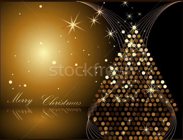 金 クリスマスツリー 冬 星 ギフト ミラー ストックフォト © jelen80