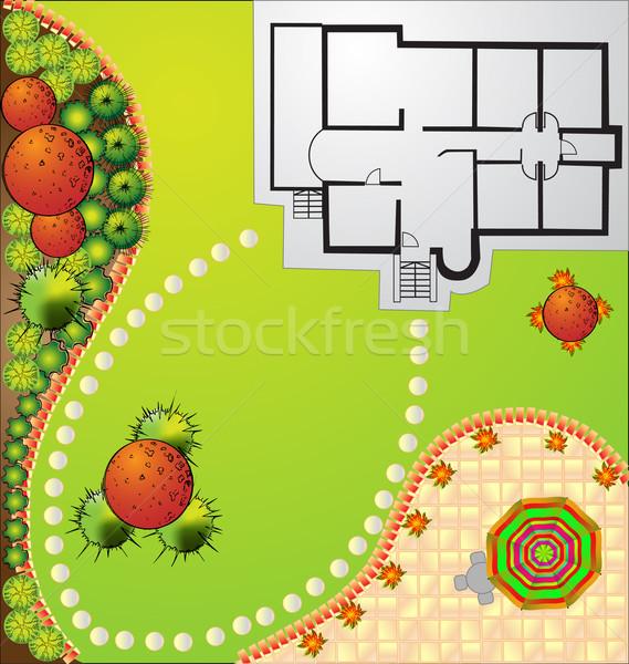 ベクトル 風景 計画 シンボル 家 建設 ストックフォト © jelen80