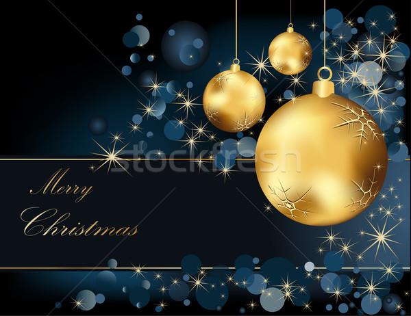 クリスマス 金 青 光 ボックス 冬 ストックフォト © jelen80