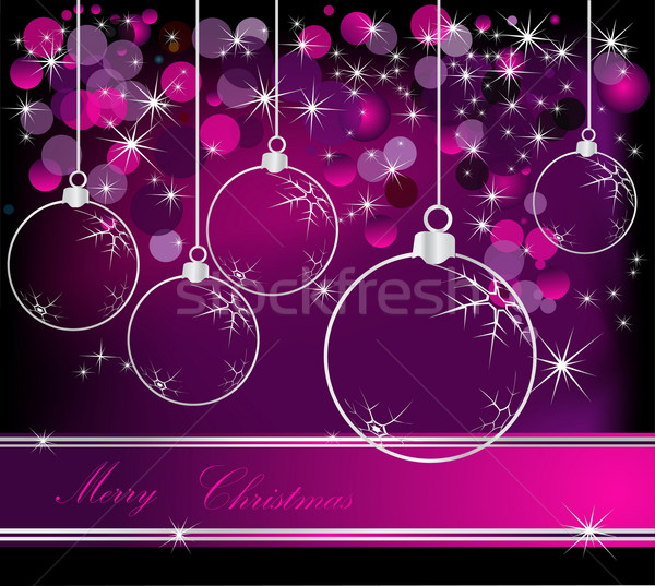 Merry Christmas  background silver and violet Stock photo © jelen80