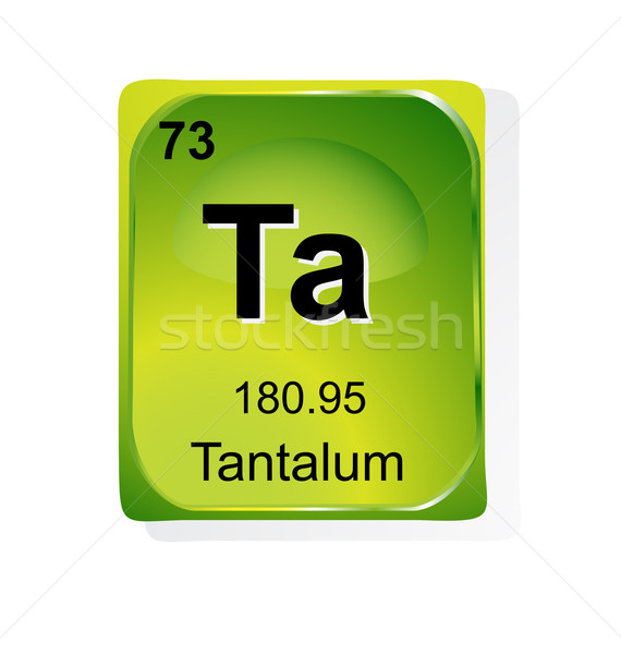 Tantalum Chemical Element With Atomic Number Symbol And Weight