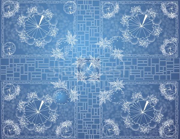 ベクトル 青写真 庭園 計画 風景 建築の ストックフォト © jelen80