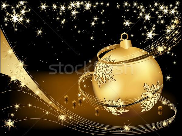 陽気な クリスマス 金 黒 星 ギフト ストックフォト © jelen80