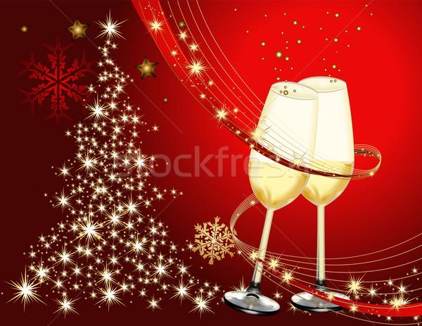 陽気な クリスマス 金 赤 光 ガラス ストックフォト © jelen80
