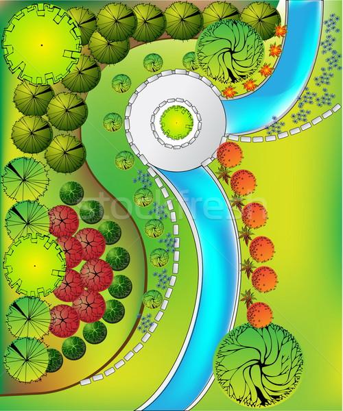 計画 庭園 工場 シンボル 水 木材 ストックフォト © jelen80