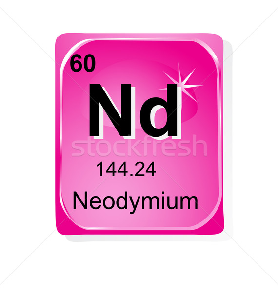 Neodymium chemical element with atomic number, symbol and weight Stock photo © jelen80