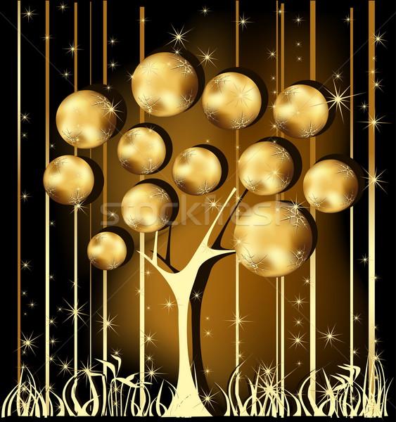 金 クリスマスツリー 星 冬 星 ギフト ストックフォト © jelen80
