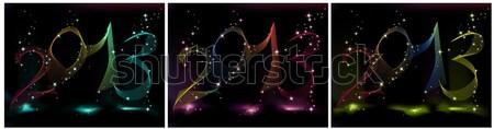Feliz nuevos 2013 año azul violeta Foto stock © jelen80