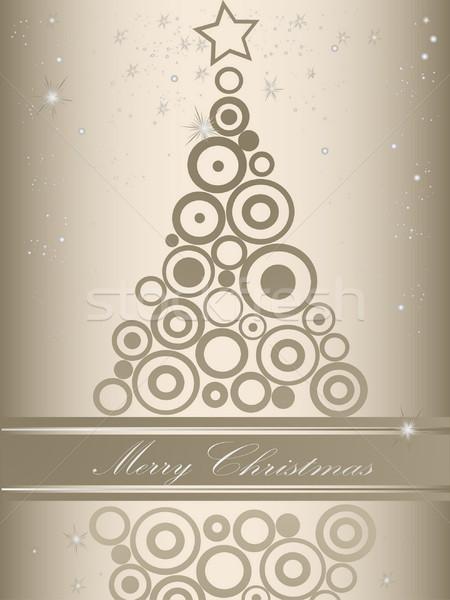 クリスマスツリー 銀 グレー 光 冬 時間 ストックフォト © jelen80