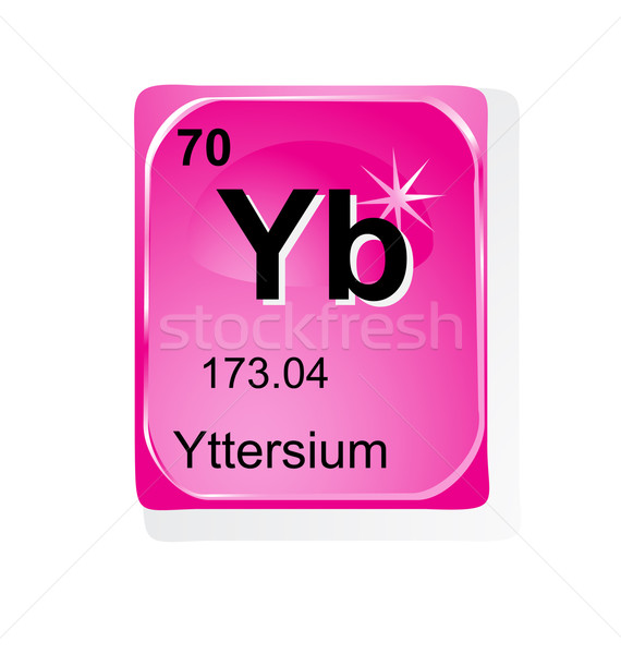 Yttersium chemical element with atomic number, symbol and weight Stock photo © jelen80