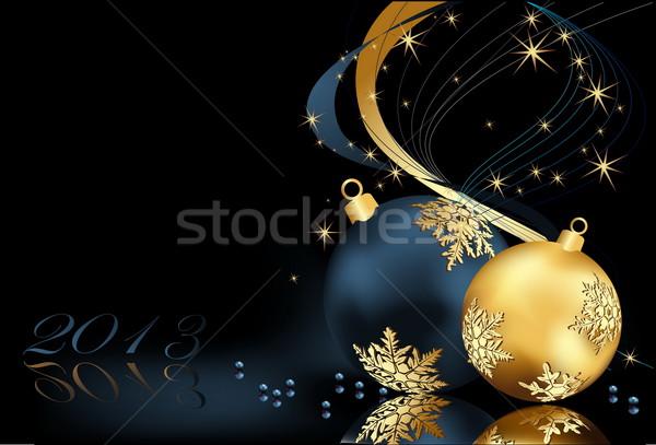 Рождества золото синий свет окна зима Сток-фото © jelen80