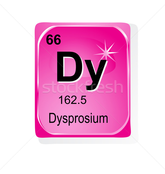 Dysprosium chemical element with atomic number, symbol and weight Stock photo © jelen80