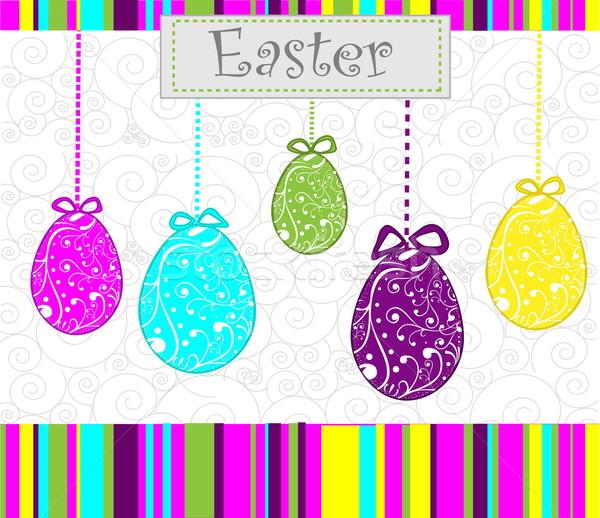 卵 イースター 食品 幸せ 卵 ストックフォト © jelen80