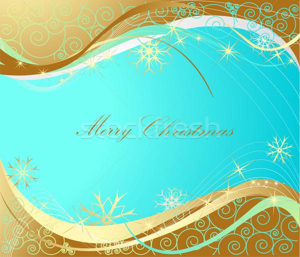 ストックフォト: 陽気な · クリスマス · 金 · 青 · 光 · 時間