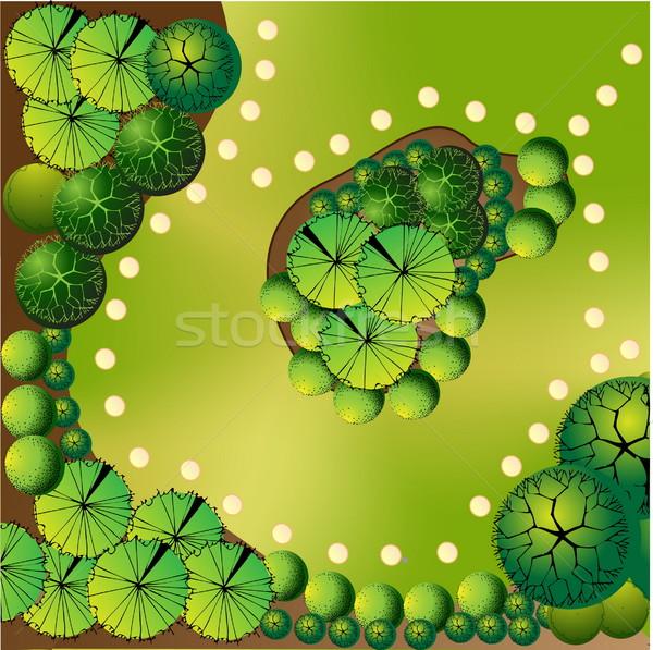 計画 風景 水 木 緑 家具 ストックフォト © jelen80