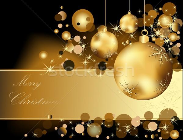 Arany vidám karácsony fény doboz tél Stock fotó © jelen80