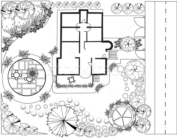 Garden plan Stock photo © jelen80