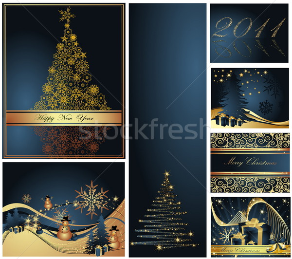Stock photo: Merry Christmas and Happy New Year collection
