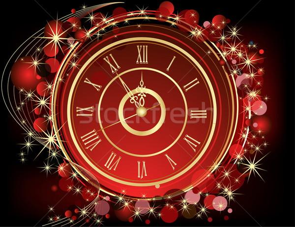 ストックフォト: 明けましておめでとうございます · 赤 · 金 · 光 · 冬 · 時間