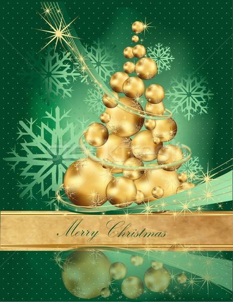 Karácsonyfa fény idő csillag arany ajándék Stock fotó © jelen80