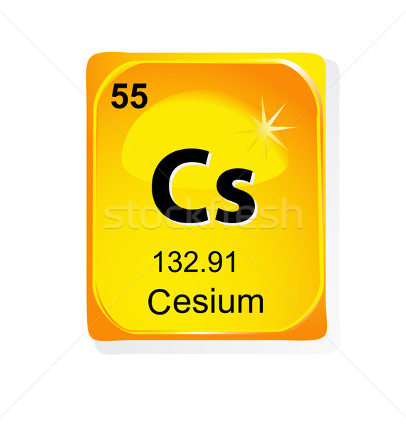 Cesium chemical element with atomic number, symbol and weight Stock photo © jelen80