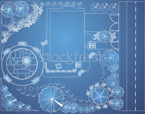 вектора план саду плана пейзаж архитектурный Сток-фото © jelen80