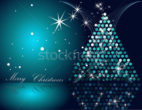 Christmas tree blue and silver Stock photo © jelen80