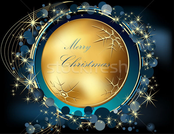 веселый Рождества золото синий свет окна Сток-фото © jelen80