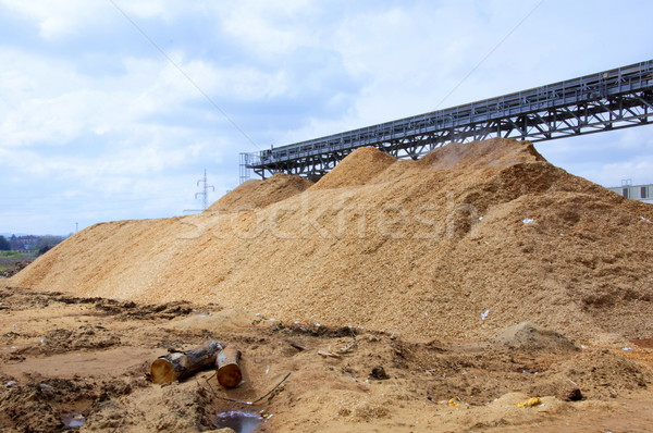 生産 業界 紙 ツリー 木材 工場 ストックフォト © jelen80