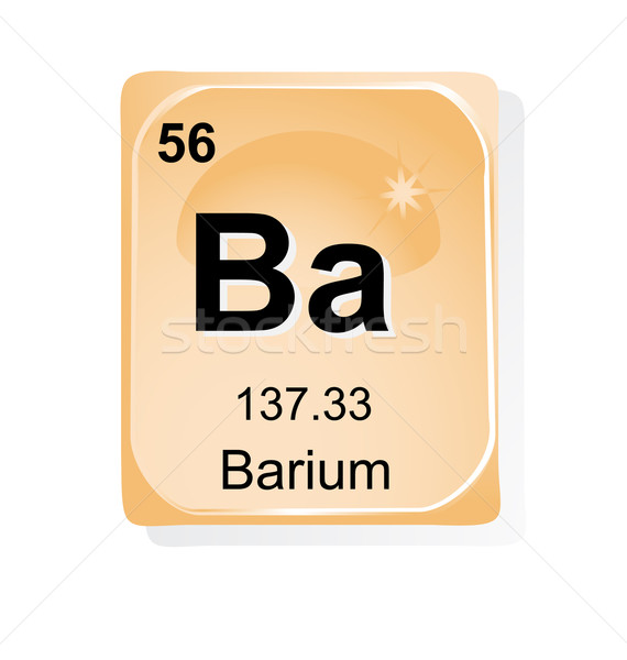 Barium chemical element with atomic number, symbol and weight Stock photo © jelen80