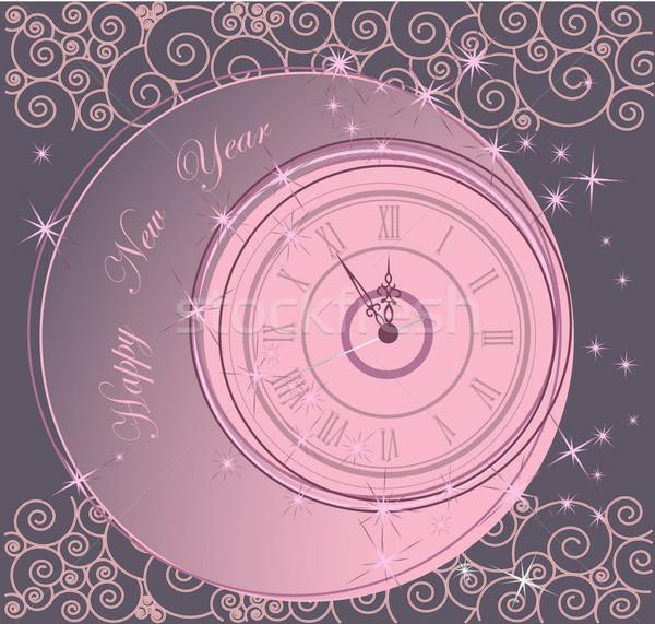 明けましておめでとうございます クロック 光 冬 時間 星 ストックフォト © jelen80