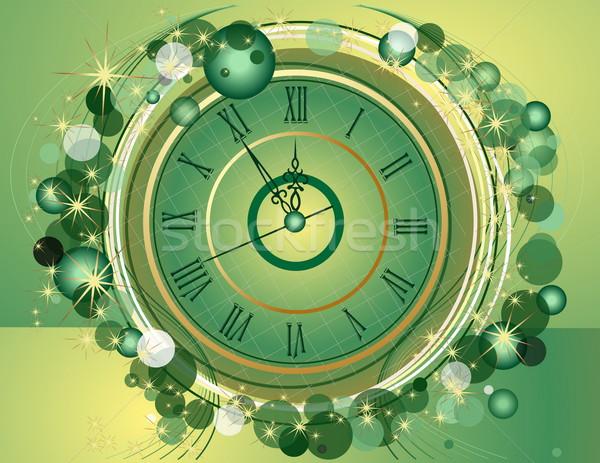 с Новым годом часы зима время звездой подарок Сток-фото © jelen80