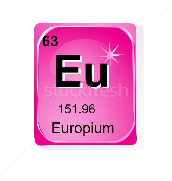 Europium chemical element with atomic number, symbol and weight Stock photo © jelen80