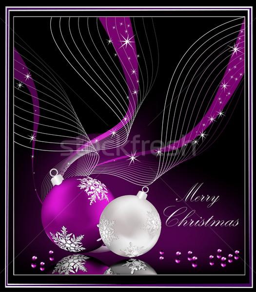 фиолетовый Рождества вино аннотация свет кадр Сток-фото © jelen80