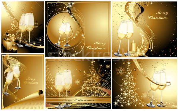 陽気な クリスマス 金 抽象的な 光 ガラス ストックフォト © jelen80