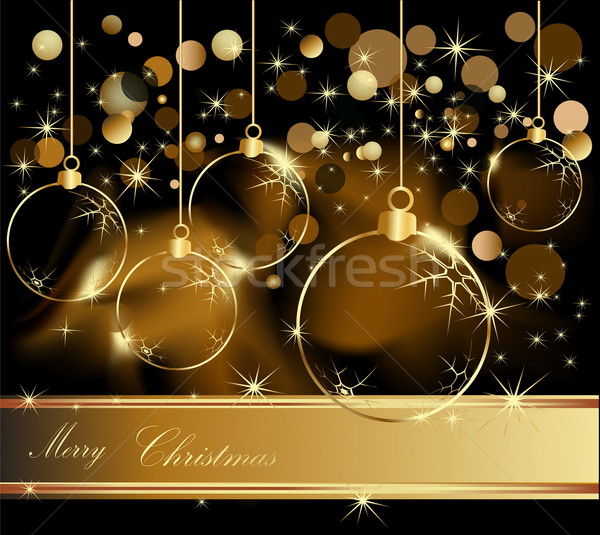 Gold Merry Christmas  background  Stock photo © jelen80